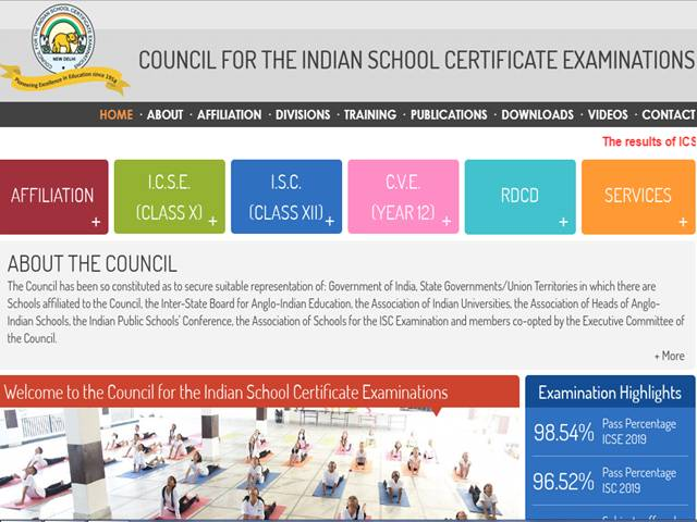 ICSE ISC 10th 12th Compartment Results 2019 Check Supply Scorecard Download at cisce.org