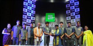 Raghubir Yadav felicitates Tricity students at Chitkara International School