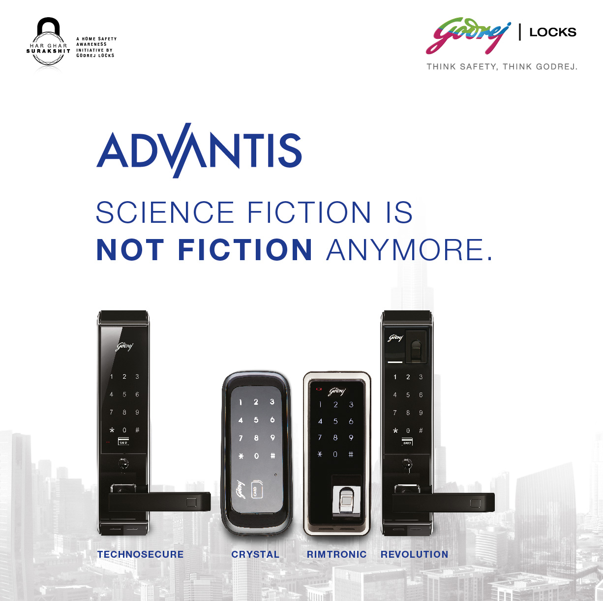 Godrej Locks unveils the most advanced digital locks range - Advantis