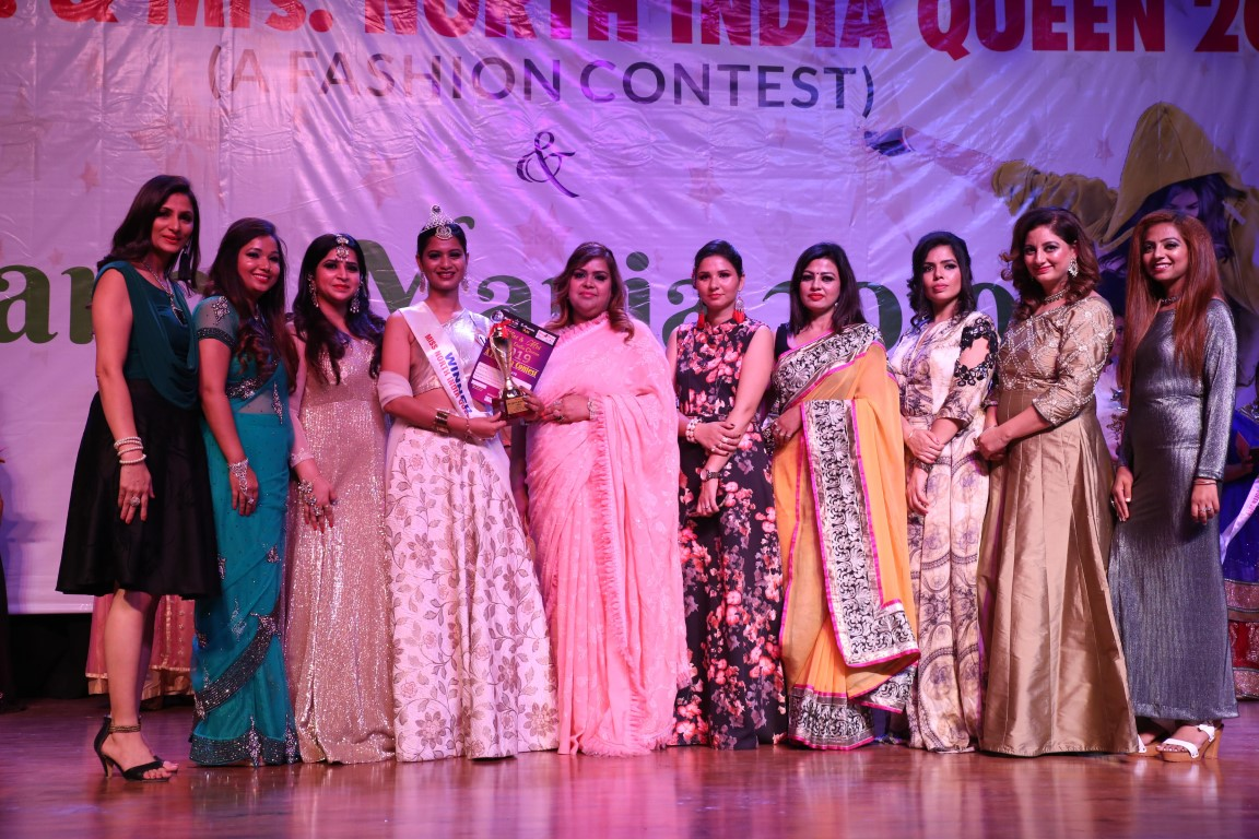 """Ms. & Mrs. North India Queen 2019"""" Organised by Glam Zone Unisex Salon"""