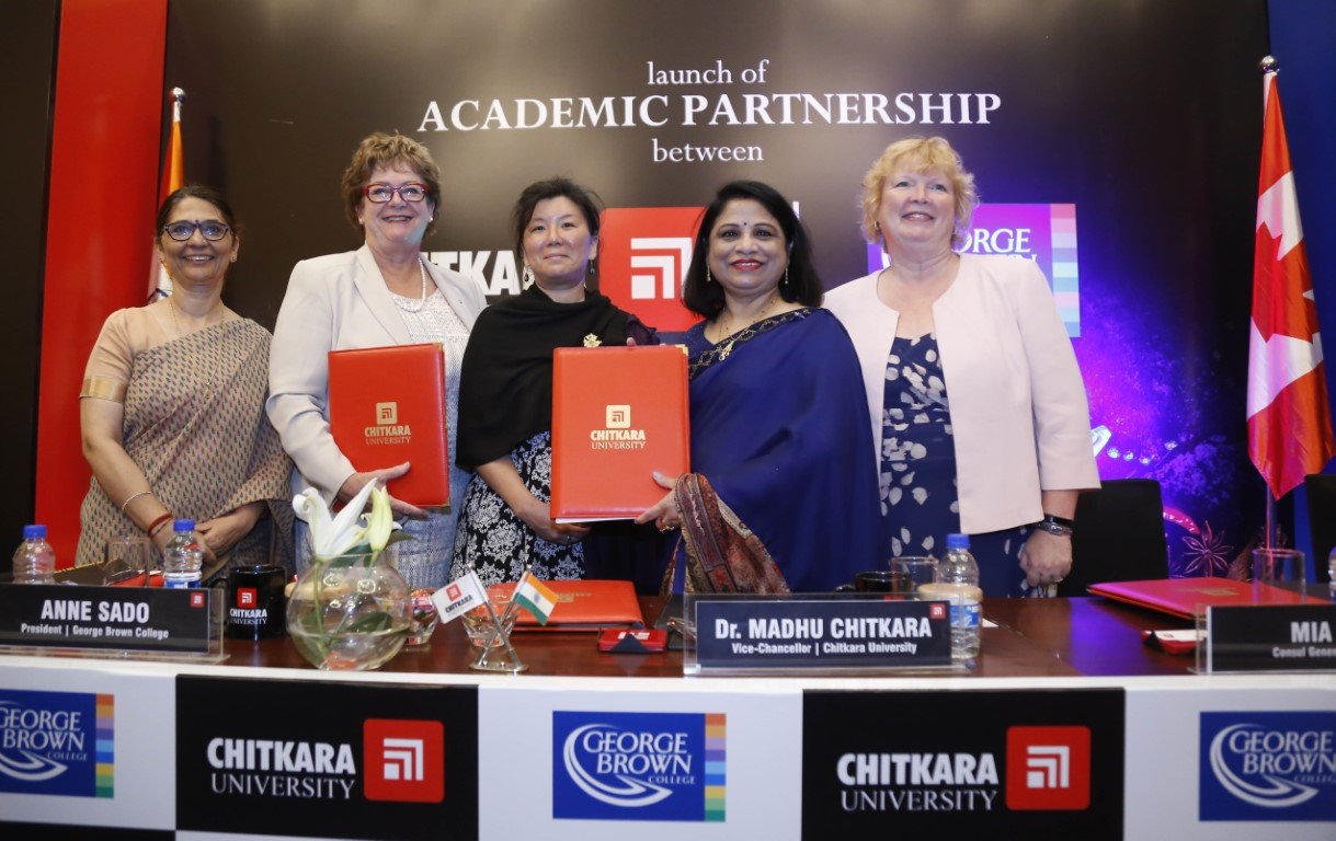 George Brown College and Chitkara University deepen partnership with new Academic Mentorship Agreement