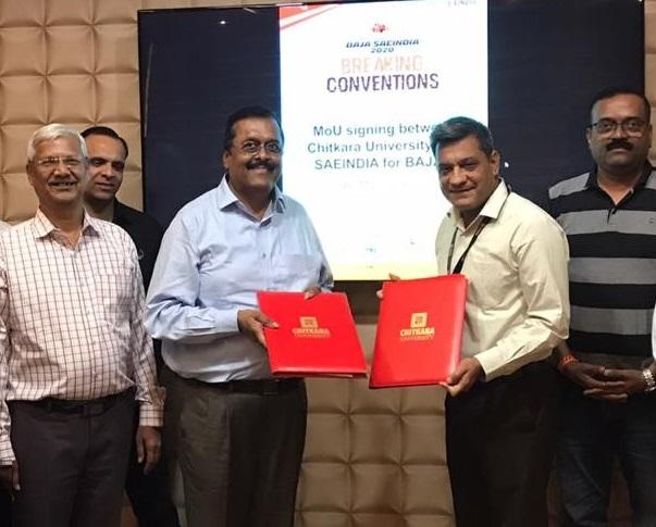 SAEINDIA and Chitkara University Sign MoU for BAJA SAEINDIA 2020 – 2nd Edition