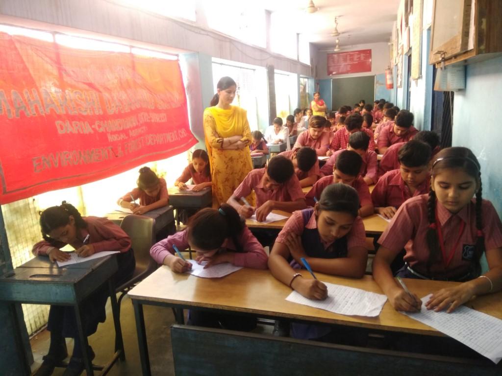 Essay Writing competition on Wildlife week celebration at Maharishi Dayanand Public School