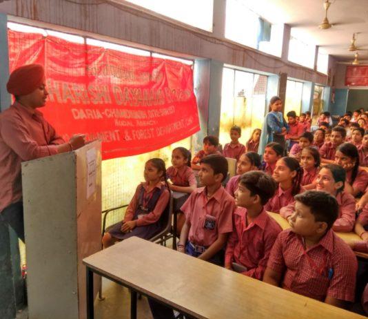 Debate on Wildlife Week Celebration at Maharishi Dayanand Public School