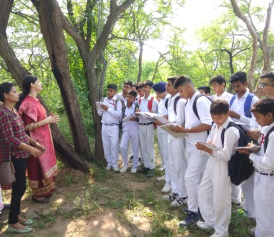 Students visited the Nepali forest, Learnt the importance of wildlife
