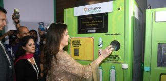 Reliance employees give new life to waste plastic bottles