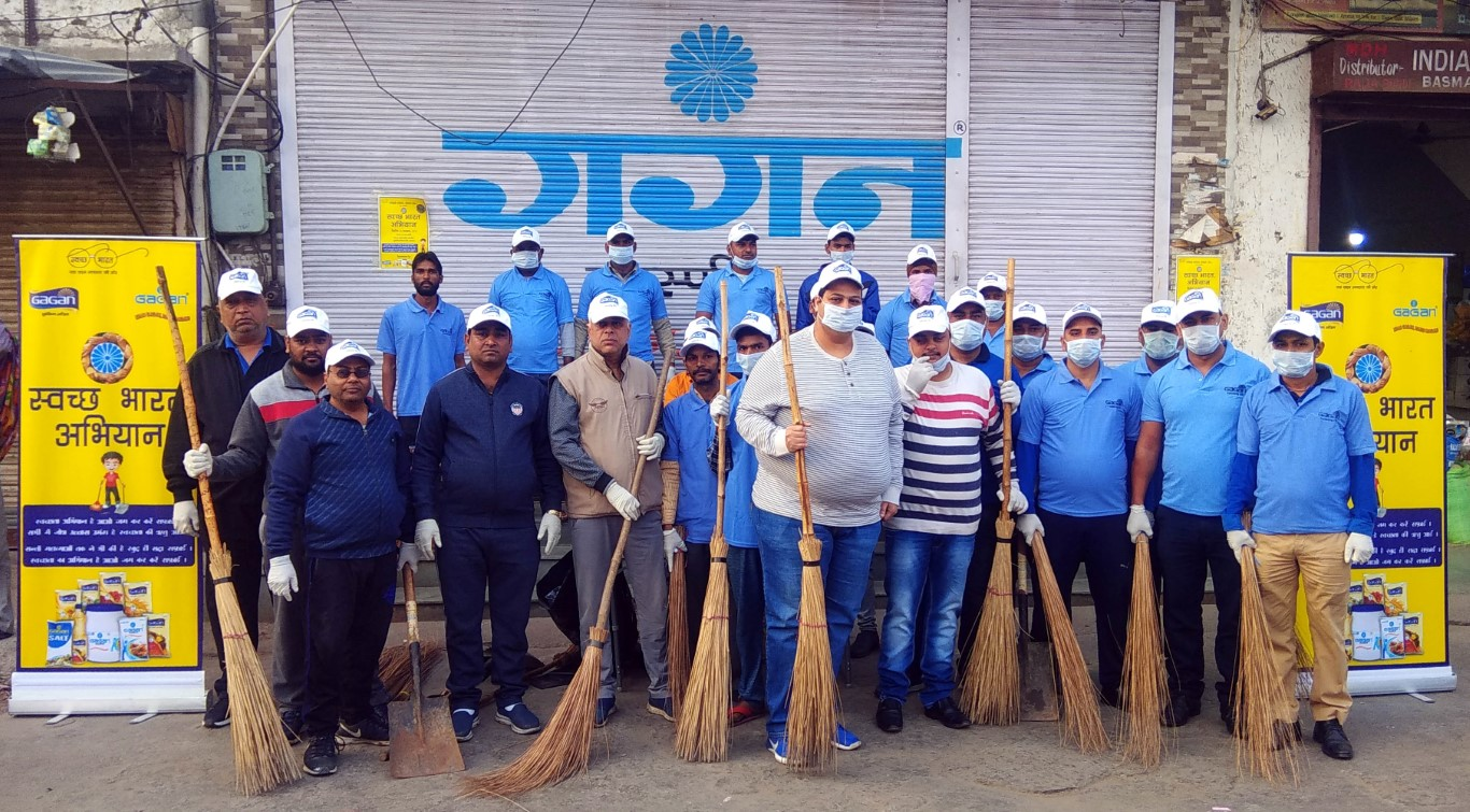 Bunge India & Kiryana Traders launch Swachh Bharat Abhiyan at Old Anaj Mandi Rohtak
