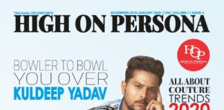 Indian Cricker Kuldeep Yadav graces the cover of a magazine High On Persona