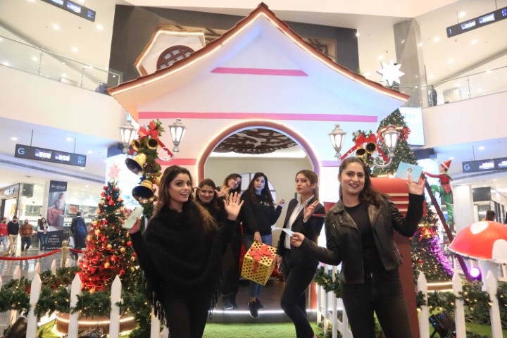 Santa Claus brings cheer at Elante's Christmas Carnival Bazar