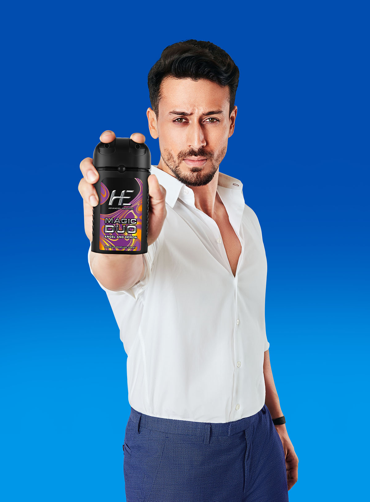 Bollywood Action Star Tiger Shroff adds 3-Ka-Punch to Emami's HE Magic Duo