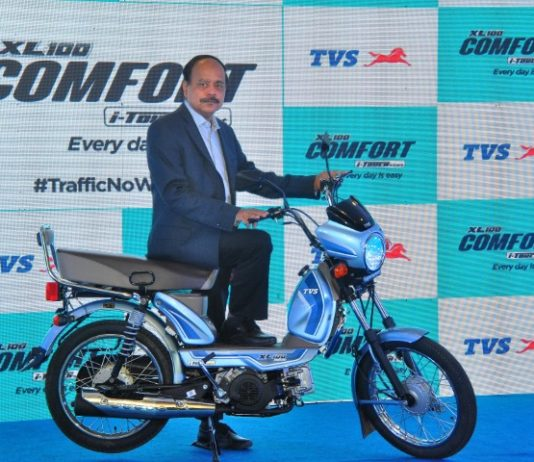 TVS Motor Company Launches TVS XL100 Comfort i-Touchstart