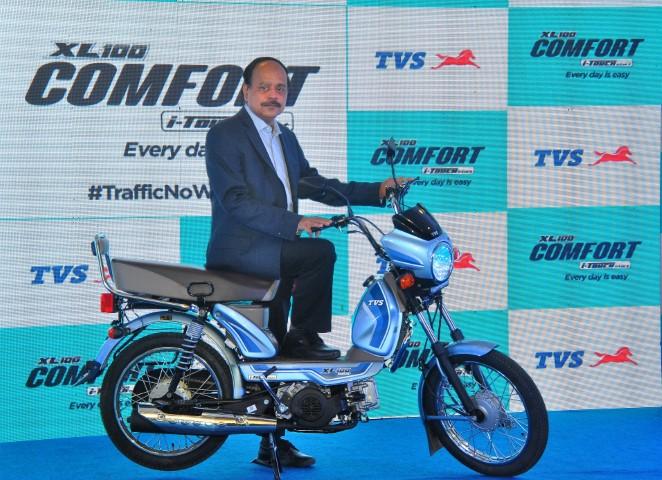TVS Motor Company Launches TVS XL100 Comfort i-Touchstart