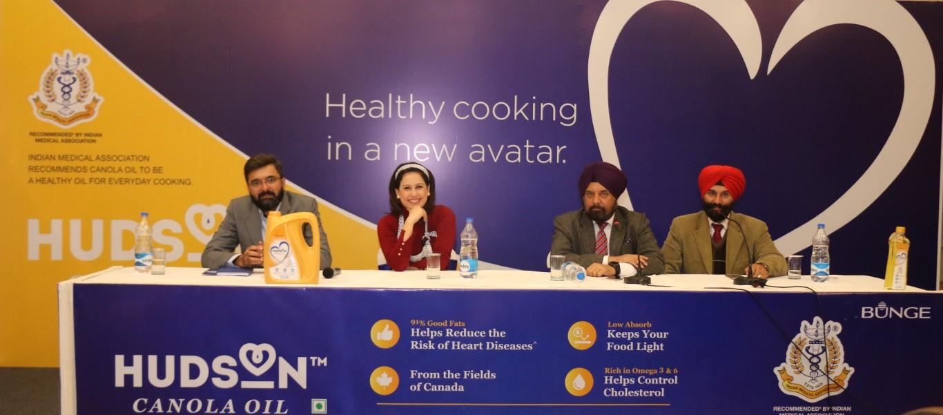 Bunge India announces the Re-launch of Hudson Canola Oil