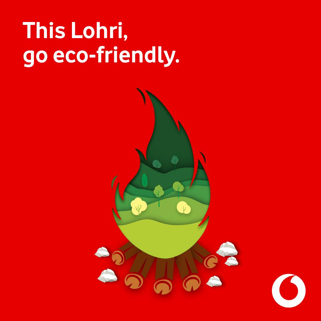 Celebrate an Eco-Friendly Lohri with Vodafone