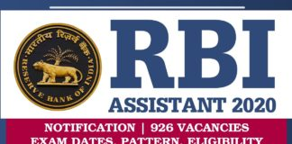 RBI Assistant 2020: Exam Date, Notification, Admit Card