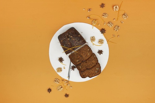 Walnut Carrot Sponge Cake