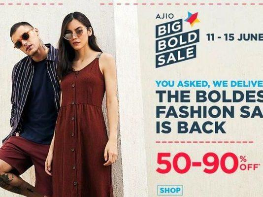 Big Brands, Bold Discounts: AJIO.com presents Big Bold Sale