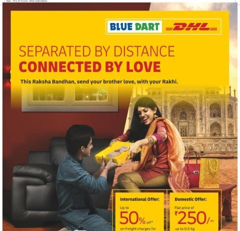 Blue Dart encourages the 'Bonds of Solidarity' thanking COVID-19 warriors with a special 'Rakhi Express' Offer