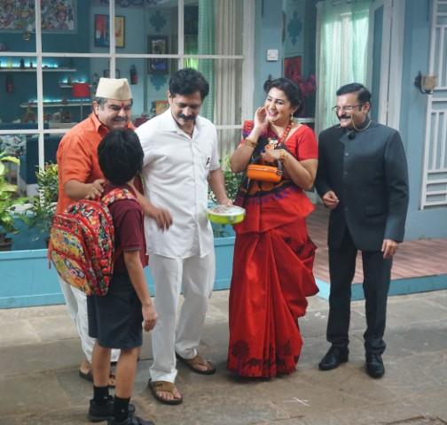 hakkars and Gokales compete to celebrate Krishna's birthday on Sony SAB's Bhakharwadi
