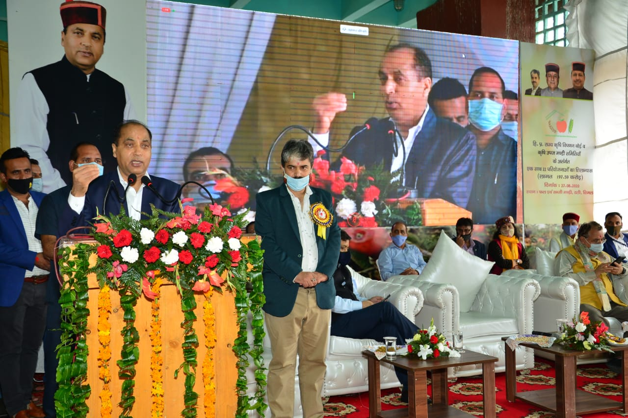 CM performs foundation stones laying of various projects worth Rs. 198 crore of HP State