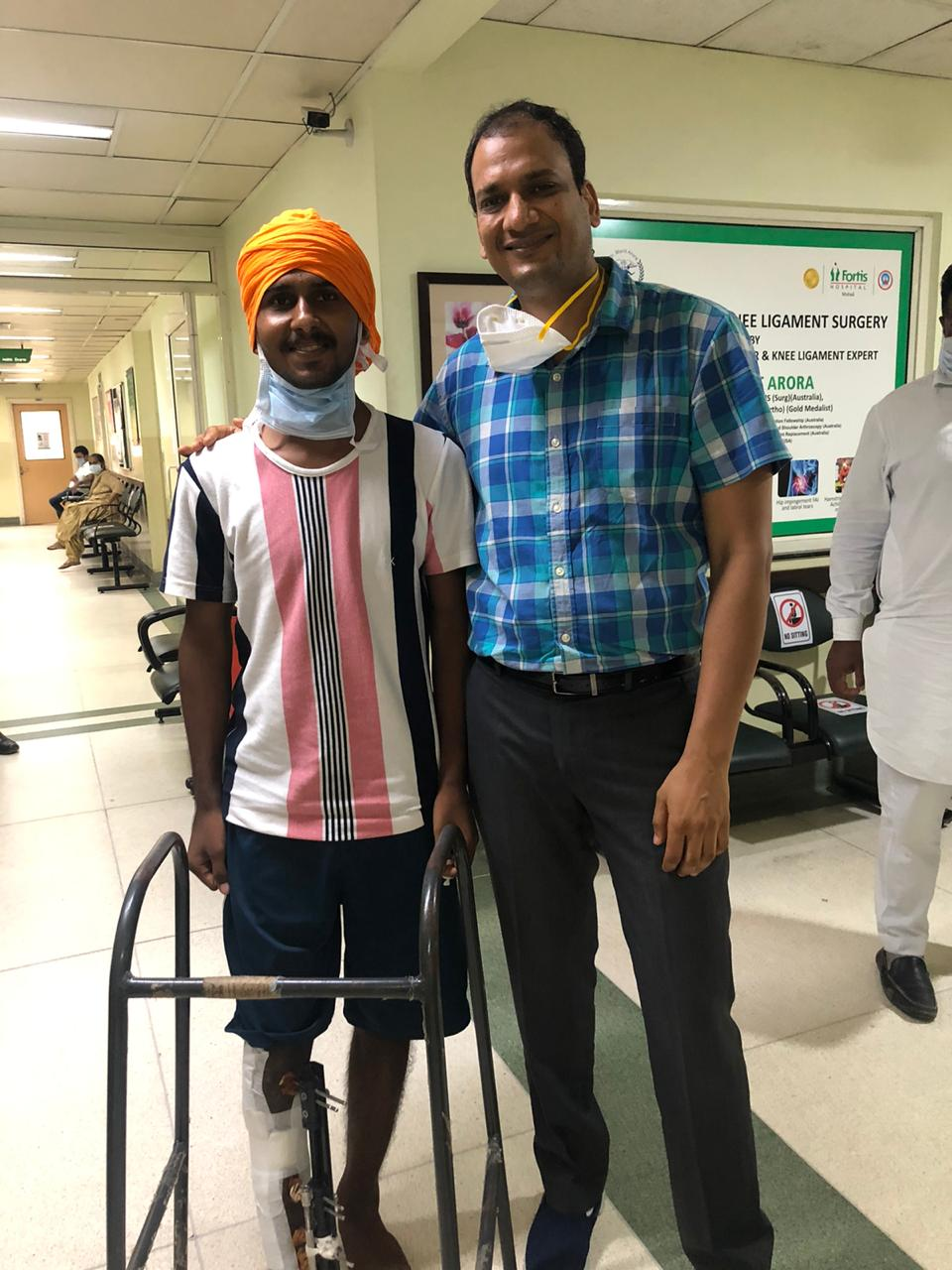 7-Month-Old Infected Open Fracture Cured At Fortis