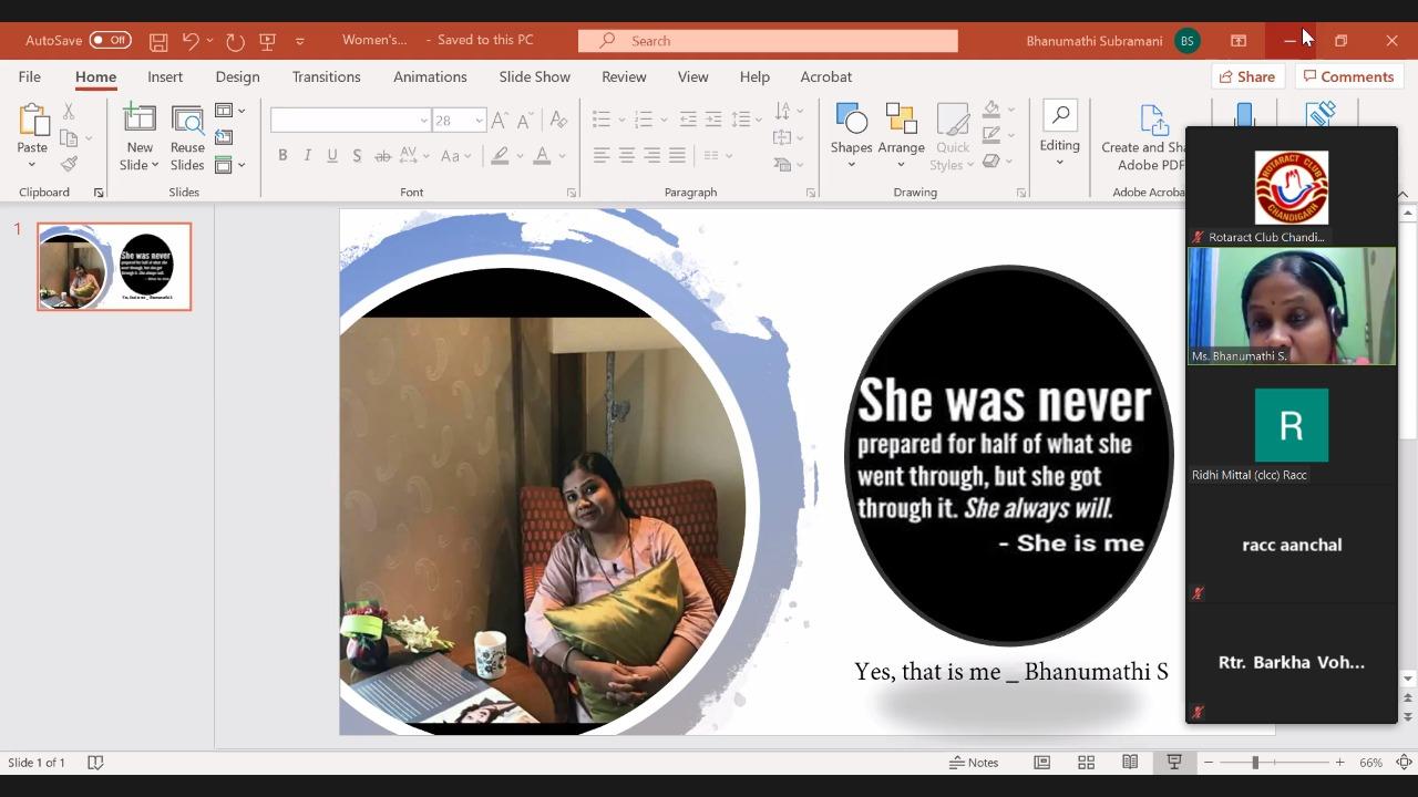 Rotaract Club Chandigarh Educates about Women's Mental Health