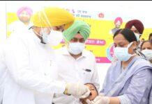Health Minister Balbir Singh Sidhu launches three-day polio vaccination drive
