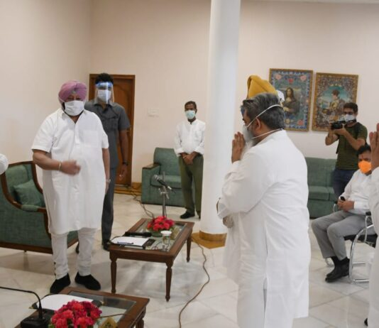 Capt Amarinder leads PPCC delegation to meet Governor to press for non-pursuance of agriculture bills by Centre