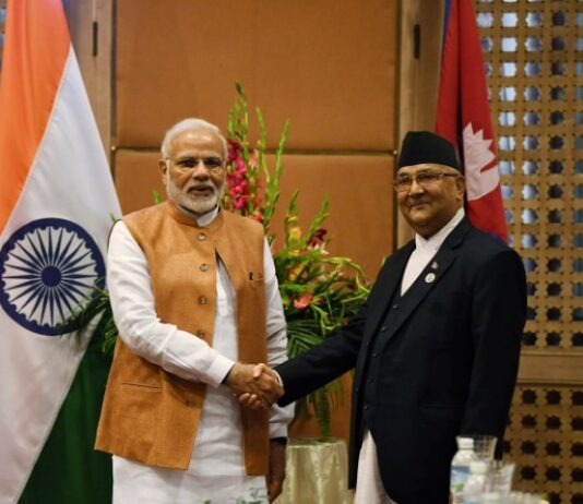 Nepal PM Oli greets Modi on 70th b'day