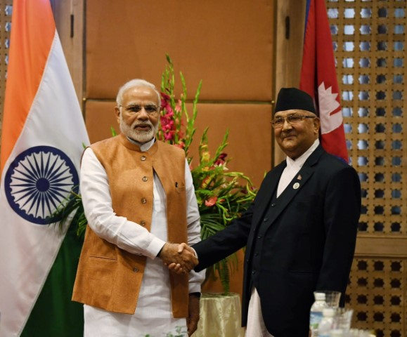 Nepal PM Oli greets Modi on 70th b'day