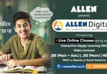 ALLEN Digital LIVE Classes Courses from October 1