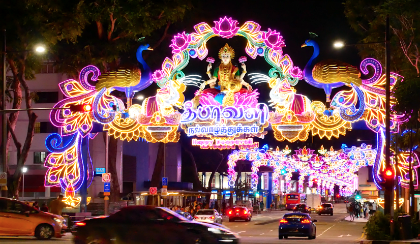 Deepavali light-up and celebrations in Little India