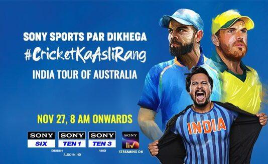 India Tour Of Australia Live On Sony Ten 1