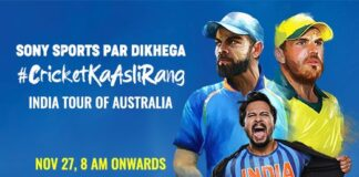 India Tour Of Australia Live On Sony Ten 1