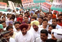 Punjab Cong MPs' protest at Jantar Mantar continues