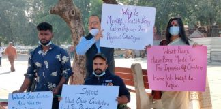 Wheelchair cricketers protest against relocation