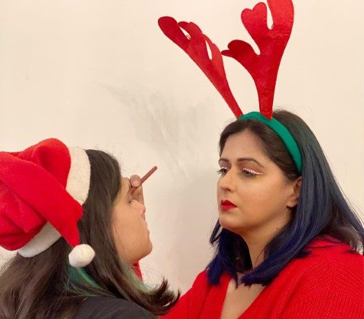 Creative Vibrant yet Subtle looks for XMas and New Year Eve