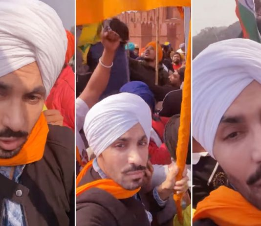 Punjabi actor summoned by NIA posts live video from Red Fort hoisting pennant