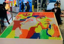 Republic Day Art Work at Elante Mall by Artist Barkat Singh