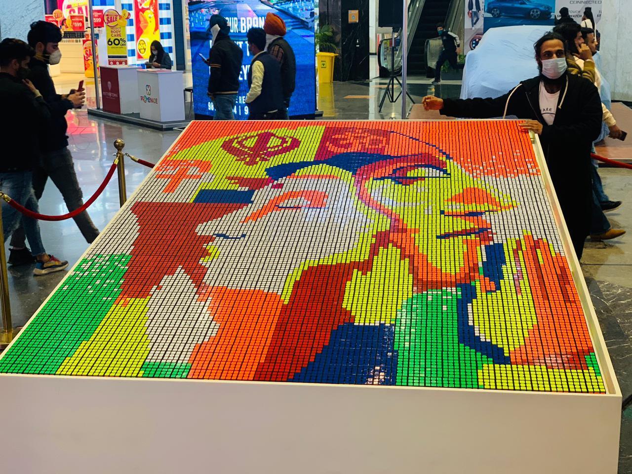 Republic Day Art Work at Elante Mall by Artist Barkat Singh
