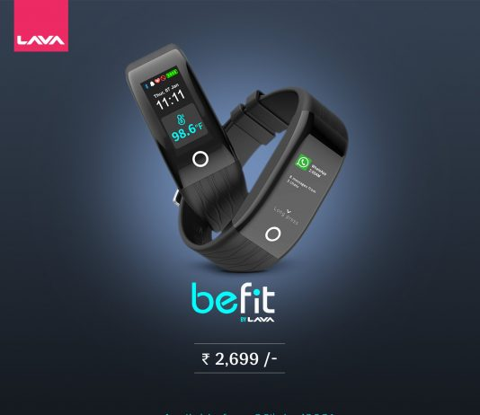 Lava BeFit now available on Flipkart at a special price of INR 2299
