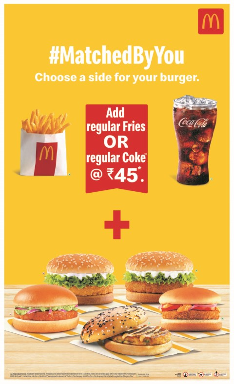 McDonald's India – North and East brings #MatchedByYou campaign