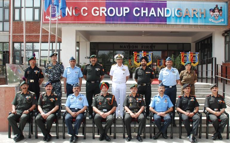 ADG Punjab Haryana Himachal & Chd NCC Visits NCC Group Headquarters