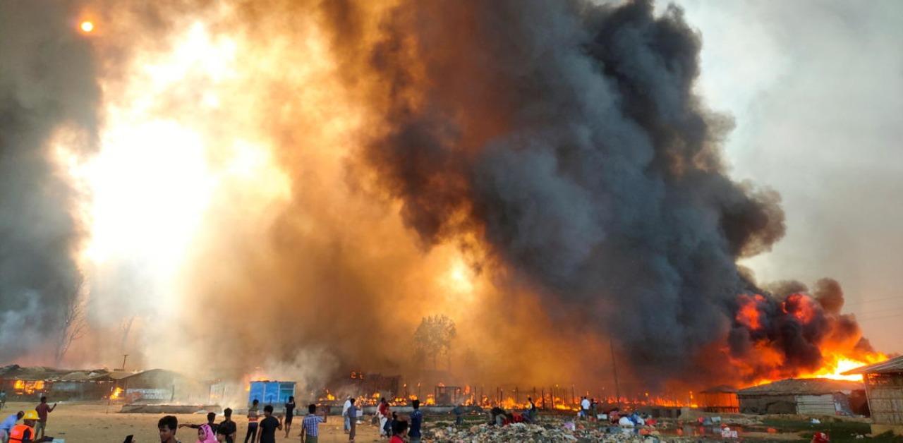 7 dead in B'desh refugee camp fire
