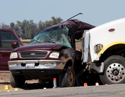 California crash kills 13 of 25 people crammed into SUV