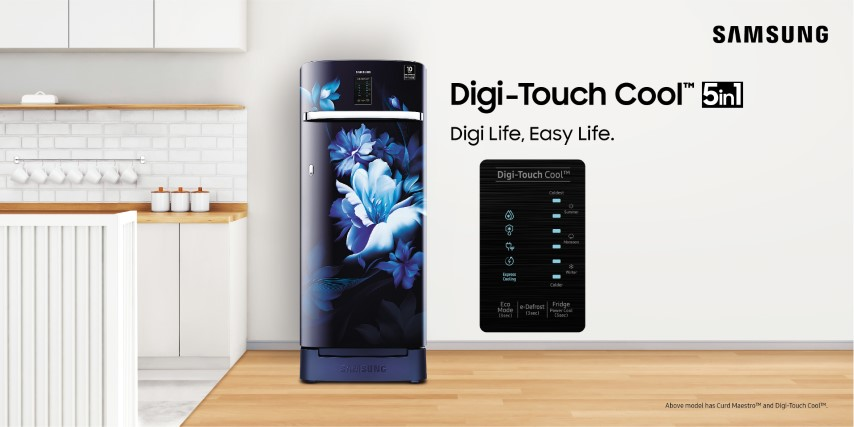 Samsung Redefines Single Door Refrigerators with Digi-Touch CoolTM 5in1 Technology
