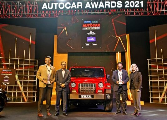 All-New Mahindra Thar wins Car of the Year at Autocar Awards 2021
