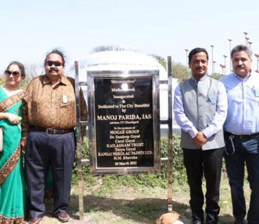 """Kansai Nerolac dedicates an exclusive installation to Chandigarh under its """"Breathing City"""" initiative"""