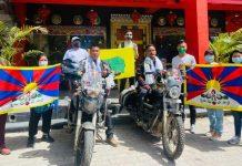 Bikers on their pan India tour for raising Tibetan cause reaches Chandigarh