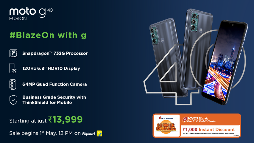 Motorola launches India's most affordable moto g60 and & g40 fusion